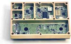 Custom designed radio data modem