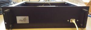 Rack box installation, front panel