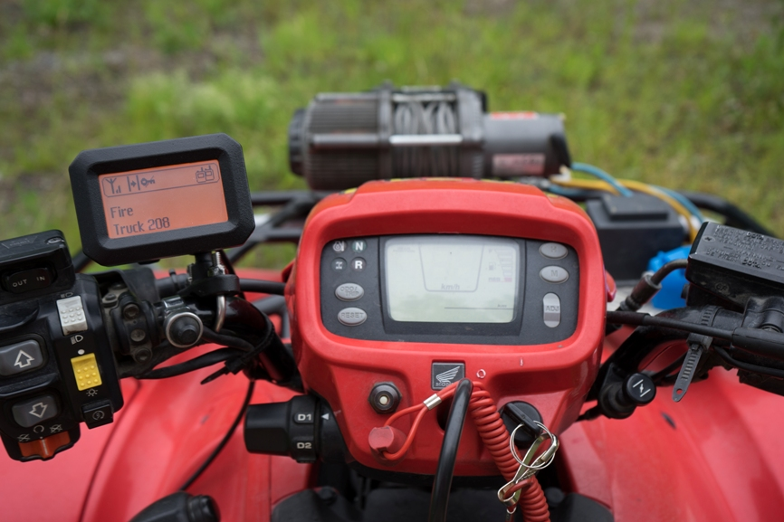 Sirius installed on a quad bike