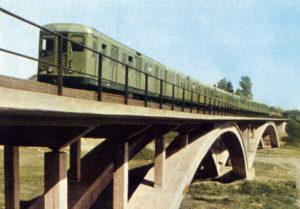 Metro train of older type