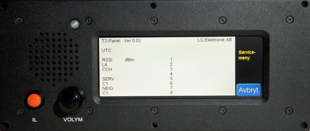 Panel service menu