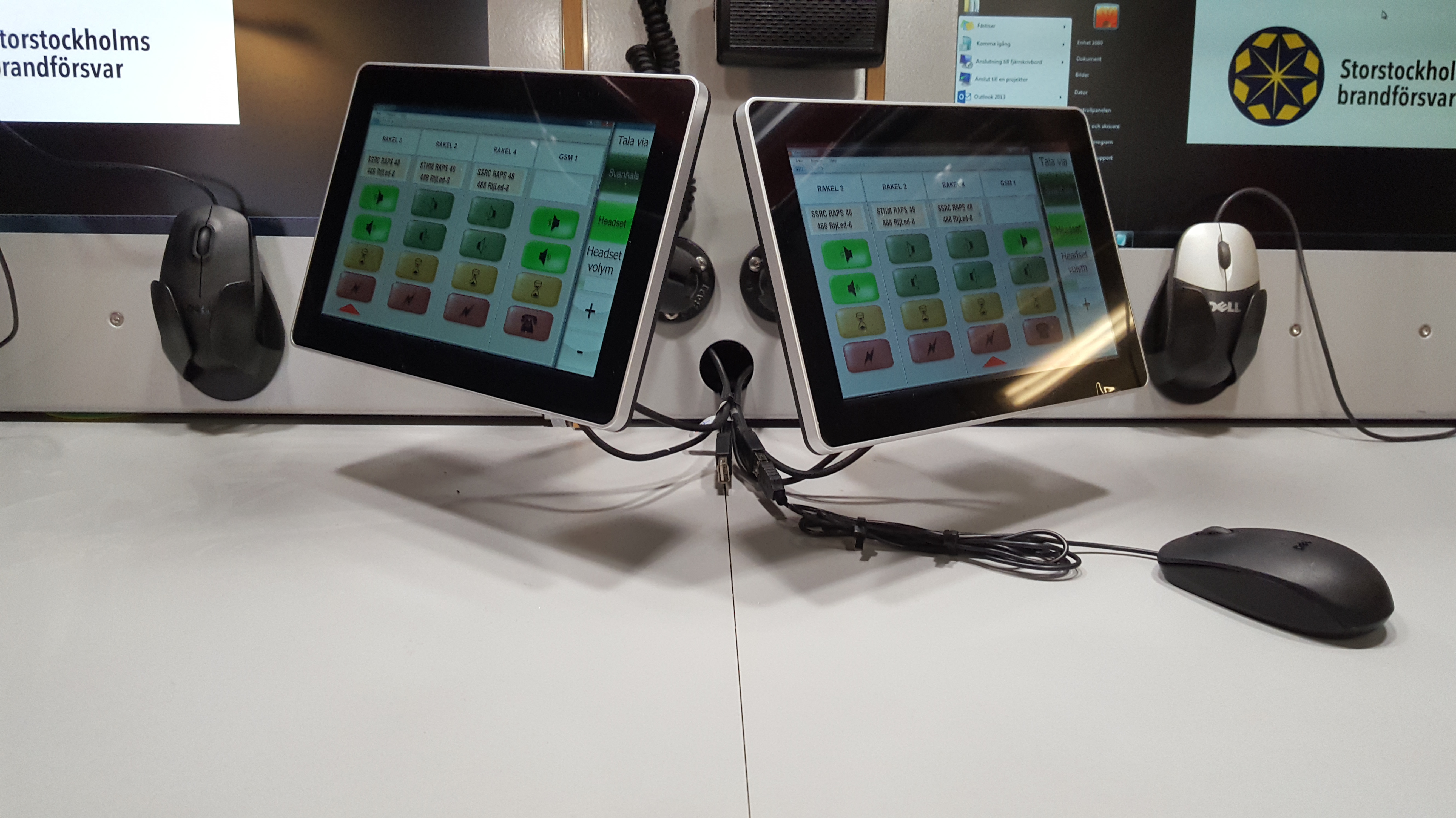 Touch screens in a command vehicle
