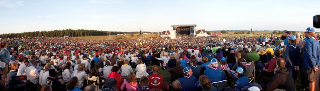 Gathering at the World Scout Jamboree
