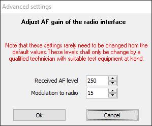 AF gain adjust menu