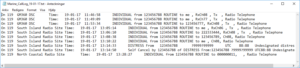 Example of DSC logfile