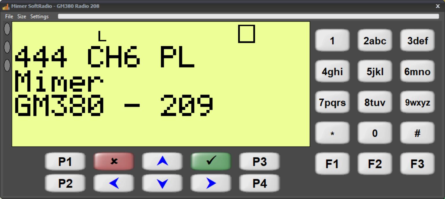 Virtual Control Head for Motorola GM380