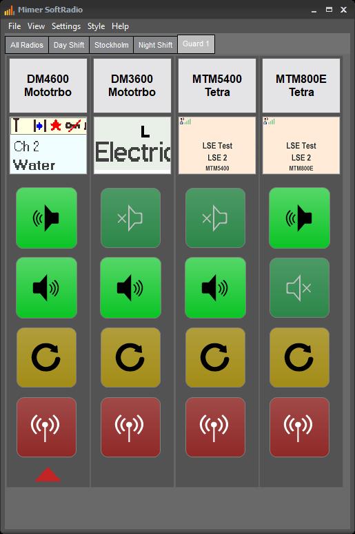 Mimer SoftRadio with different Motorola radios