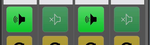 Setting with one speaker button per device