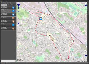 MapView showing a radio trace
