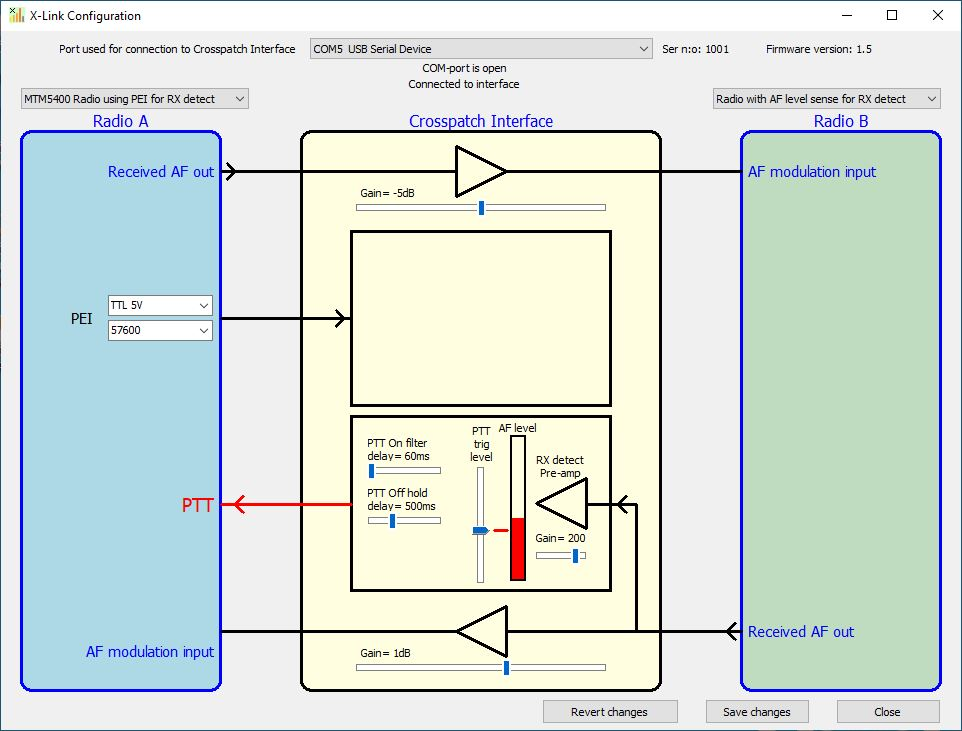 Setup software for the X-Lnk Interface