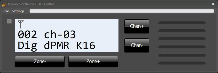 Icom IC-F6062 Virtual Control Head