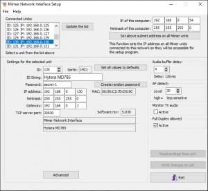 Interface Setup