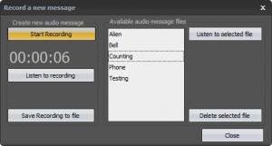 Message recording tool