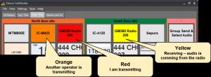 SoftRadio colour indicators