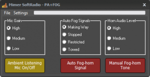 PA and FogHorn Device Panel