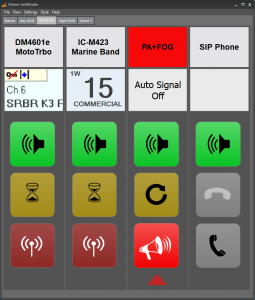 SoftRadio with PA device panel